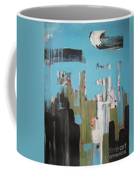 Abstract Paintings Coffee Mug featuring the painting Neglected Area by Seon-Jeong Kim