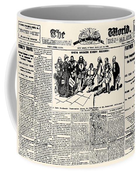 1890 Coffee Mug featuring the photograph Nellie Bly (1867-1922) by Granger