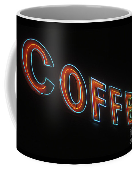 Neon Coffee Mug featuring the photograph Neon Coffee by Jim And Emily Bush