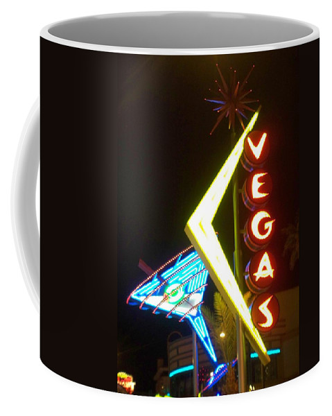 Fremont East Coffee Mug featuring the photograph Neon Signs 3 by Anita Burgermeister