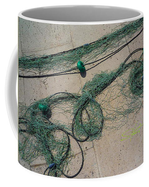 Fishing Net Coffee Mug featuring the photograph Neptune Green by Charles Stuart