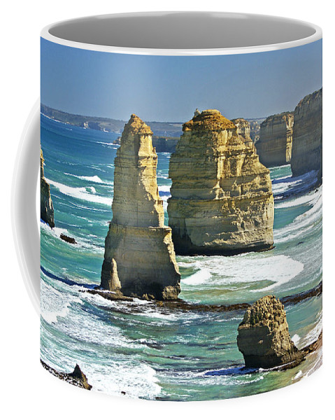 Landscape Coffee Mug featuring the photograph Neptune's Sculptures by Holly Kempe