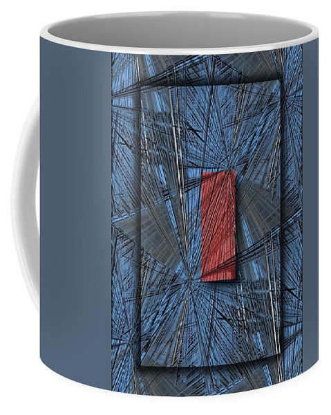 Abstract Coffee Mug featuring the digital art Networking 2 by Tim Allen