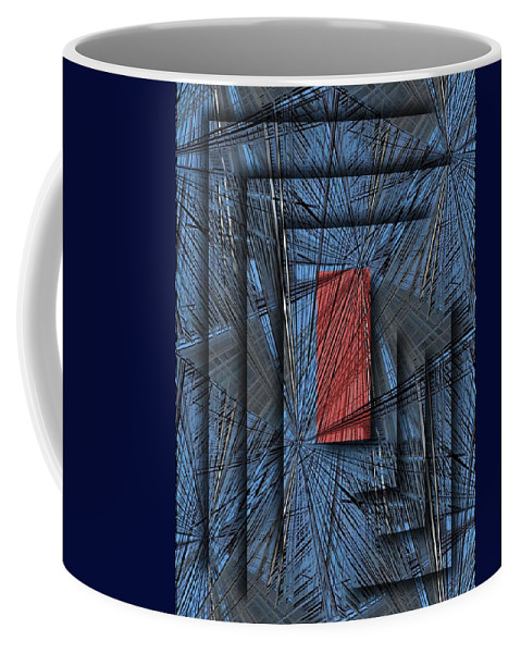 Abstract Coffee Mug featuring the digital art Networking by Tim Allen