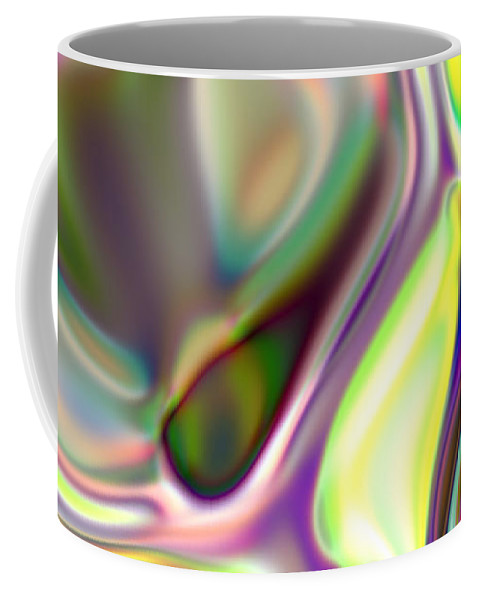 Coffee Mug featuring the digital art Neural Abstraction #14 by Evgeniy Babkin