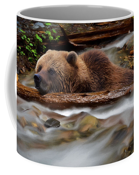 Never Give Up Coffee Mug featuring the photograph Never Give Up - Wilderness Art by Jordan Blackstone