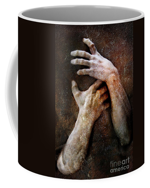 Photodream Coffee Mug featuring the photograph Never Let Go by Jacky Gerritsen