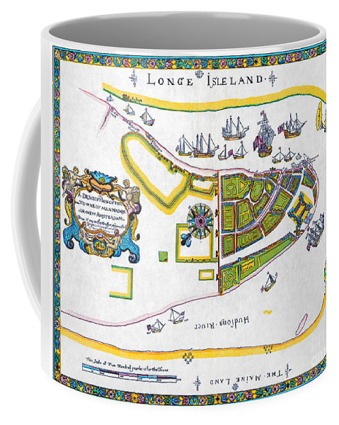 1661 Coffee Mug featuring the photograph New Amsterdam Map, 1661 by Granger