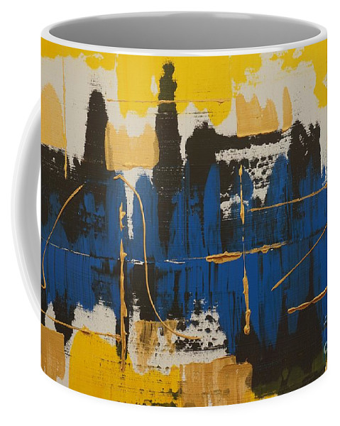 Abstract Coffee Mug featuring the painting New Beginnings by Jimmy Clark