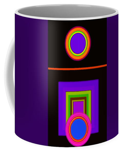 Classical Coffee Mug featuring the digital art New Black Classic by Charles Stuart