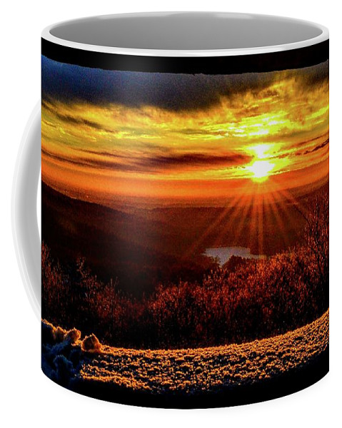 Blue Hills Reservation Coffee Mug featuring the photograph New Day Dawns by Dave Pellegrini