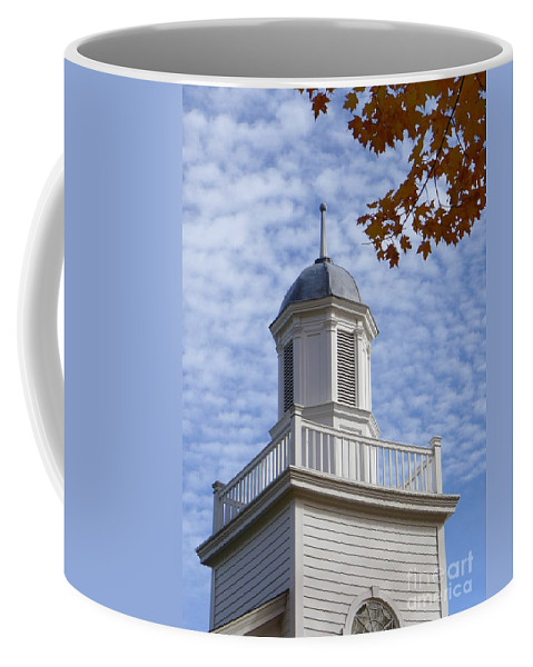 Steeple Coffee Mug featuring the photograph New England Steeple - Ridgefield, Connecticut by Cheryl Kurman