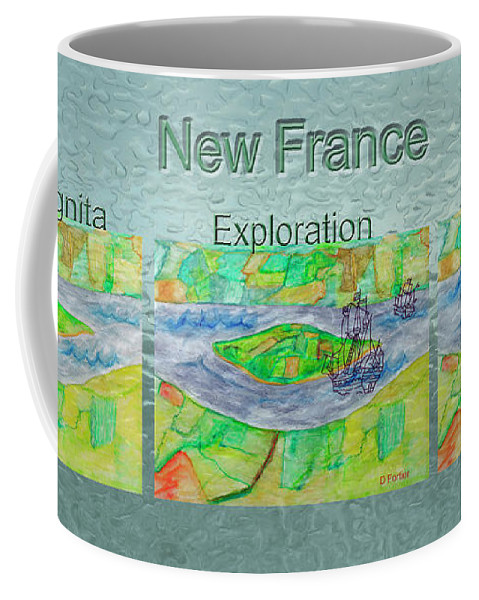 New France Coffee Mug featuring the photograph New France Mug Shot by Dominique Fortier
