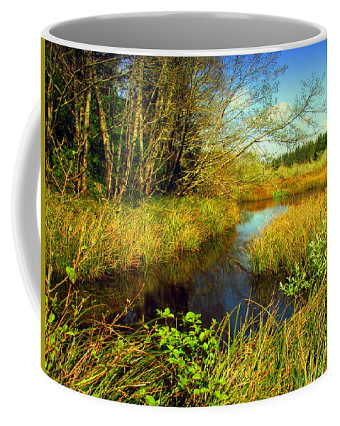 Pond Coffee Mug featuring the photograph New Growth At The Pond by Joyce Dickens