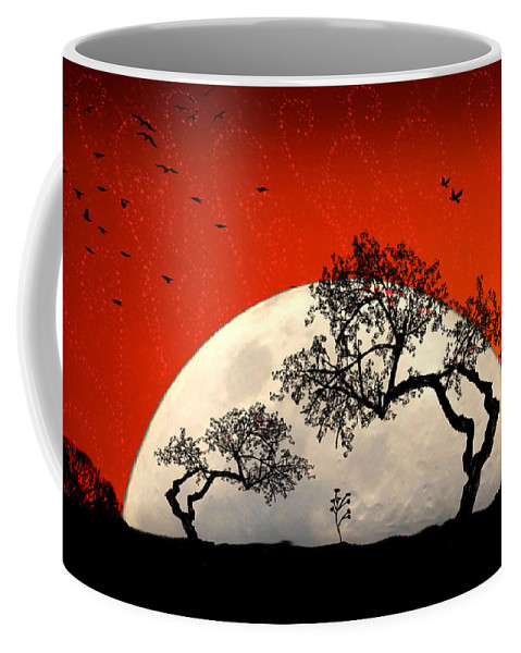 Moon Coffee Mug featuring the digital art New Growth New Hope by Holly Kempe