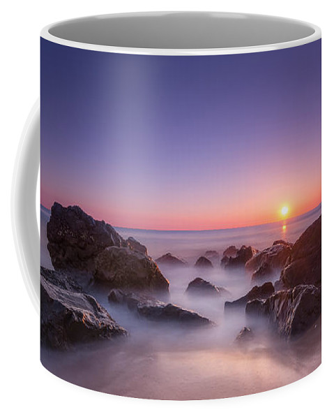 Sea Girt Coffee Mug featuring the photograph New Jersey Sunrise At Sea Girt by Michael Ver Sprill