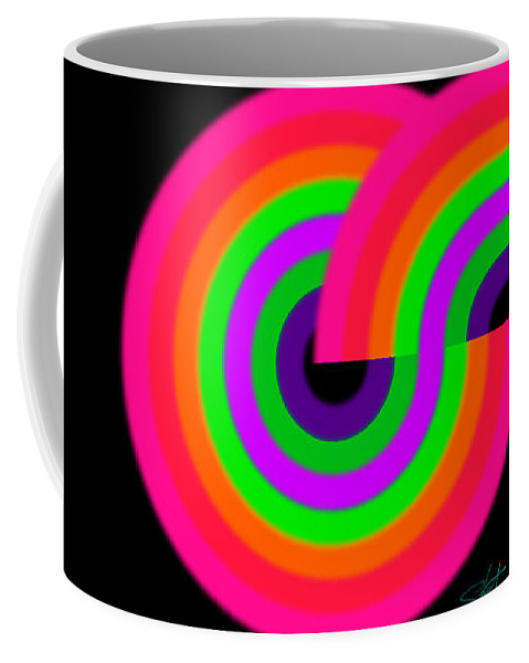 Color Coffee Mug featuring the painting New Landscape by Charles Stuart