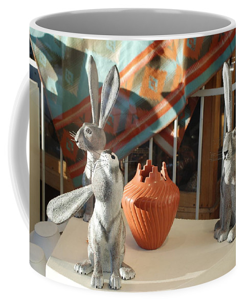 Rabbits Coffee Mug featuring the photograph New Mexico Rabbits by Rob Hans