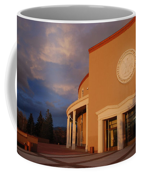 Architecture Coffee Mug featuring the photograph New Mexico State Capital Building by Rob Hans
