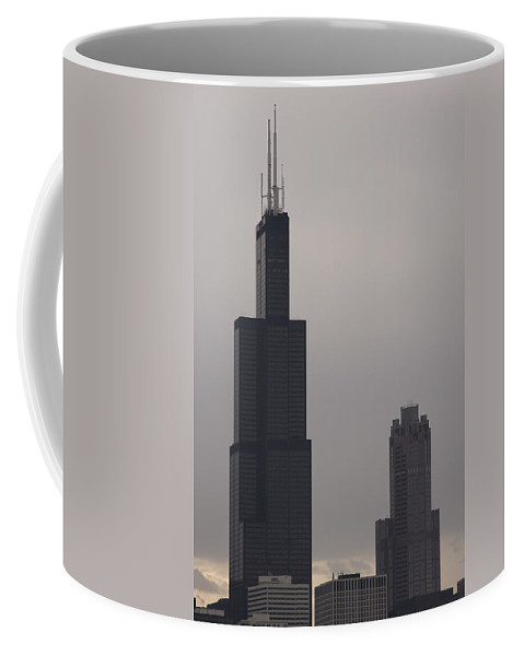Chicago Windy City Sears Willis Tower Building High Tall Skyscraper Urban Metro Tourist Attraction Coffee Mug featuring the photograph New Name by Andrei Shliakhau