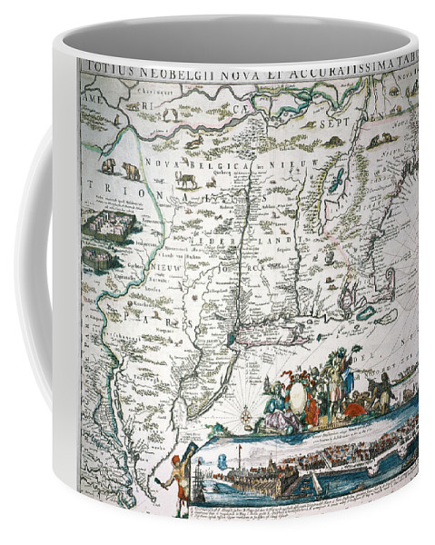 1673 Coffee Mug featuring the photograph New Netherland Map by Granger