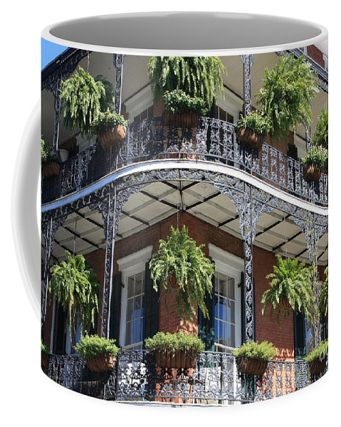 New Orleans Coffee Mug featuring the photograph New Orleans Balcony by Carol Groenen