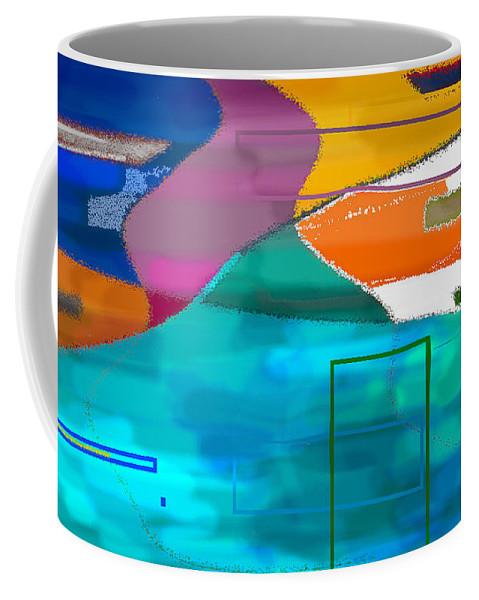 New Orleans Coffee Mug featuring the digital art New Orleans Bump 1 by Greg Benson