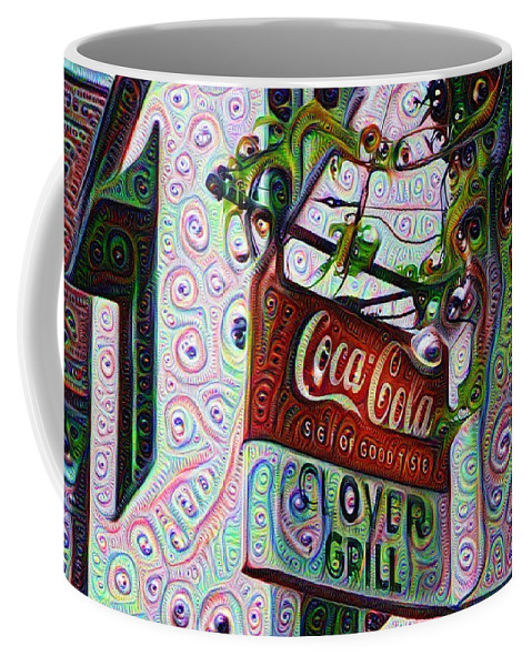New Coffee Mug featuring the painting New Orleans - Clover Grill by Bill Cannon