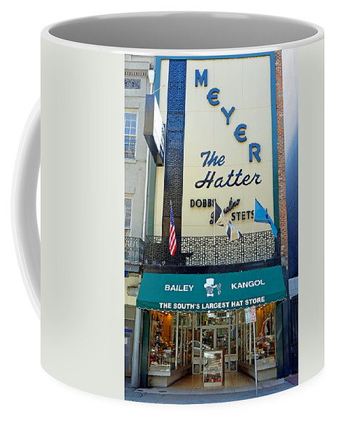 Meyer Coffee Mug featuring the photograph New Orleans Hatter by Robert Meyers-Lussier