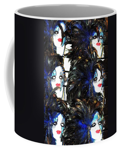 Masks Coffee Mug featuring the photograph New Orleans Masks by Nelson Strong