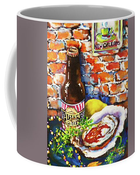 Oyster Coffee Mug featuring the painting New Orleans Treats by Dianne Parks