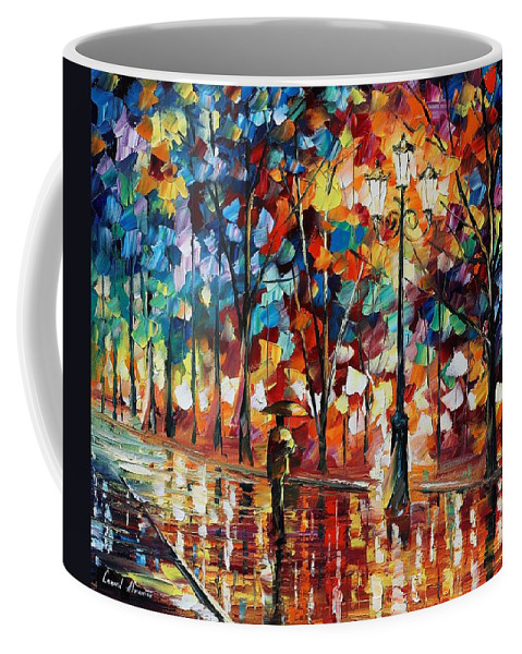 Afremov Coffee Mug featuring the painting New Park by Leonid Afremov