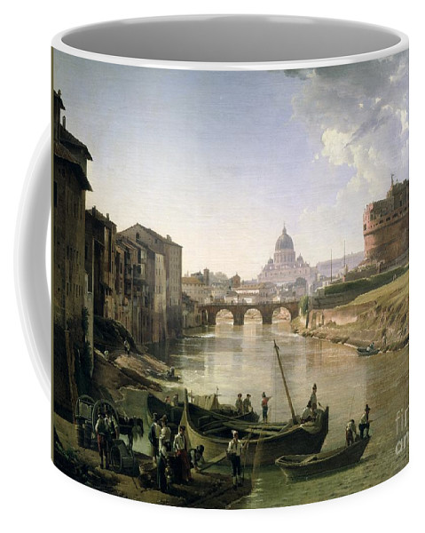 River Tiber Coffee Mug featuring the painting New Rome With The Castel Sant Angelo by Silvestr Fedosievich Shchedrin