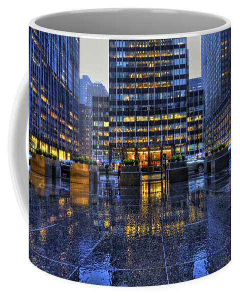 New York Coffee Mug featuring the photograph New York Blues by Evelina Kremsdorf