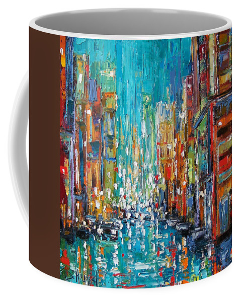 City Art Coffee Mug featuring the painting New York City by Debra Hurd