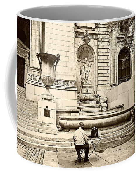 Nyc Coffee Mug featuring the photograph New York City Public Library by Diana Angstadt