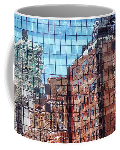 New York City Coffee Mug featuring the photograph New York City Skyscraper Art 4 by Judi Saunders