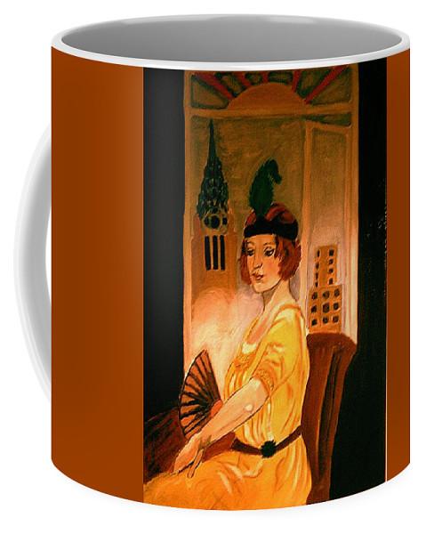 New York Coffee Mug featuring the painting New York Fantasy by Rusty Gladdish