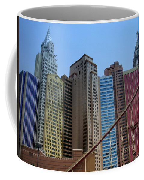 Vegas Coffee Mug featuring the photograph New York Hotel by Anita Burgermeister