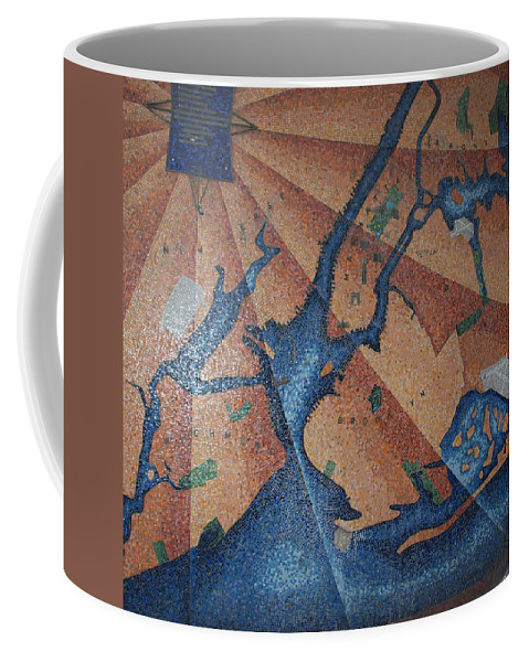 Times Square Coffee Mug featuring the photograph New York In Mosaic by Rob Hans