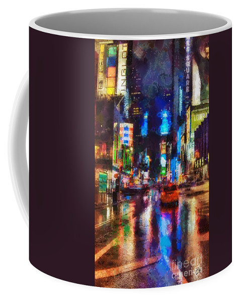 New York Coffee Mug featuring the painting New York by Mo T