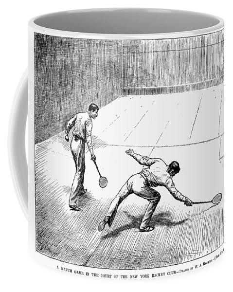1890 Coffee Mug featuring the photograph New York Racket Club by Granger