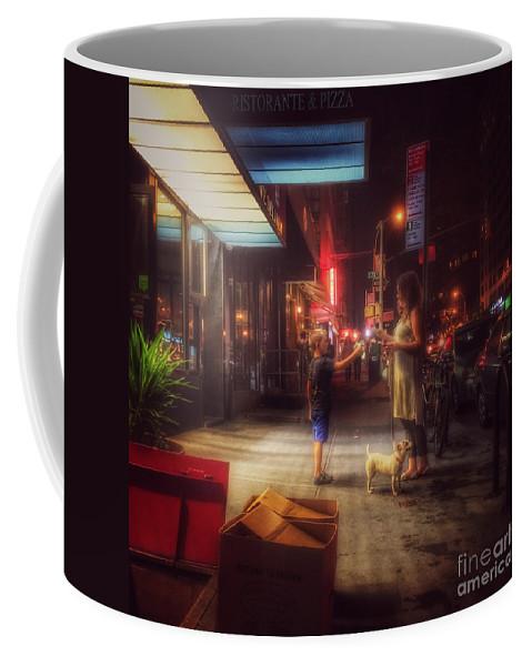 New York Summer Nights Coffee Mug featuring the photograph New York Summer Nights by Miriam Danar