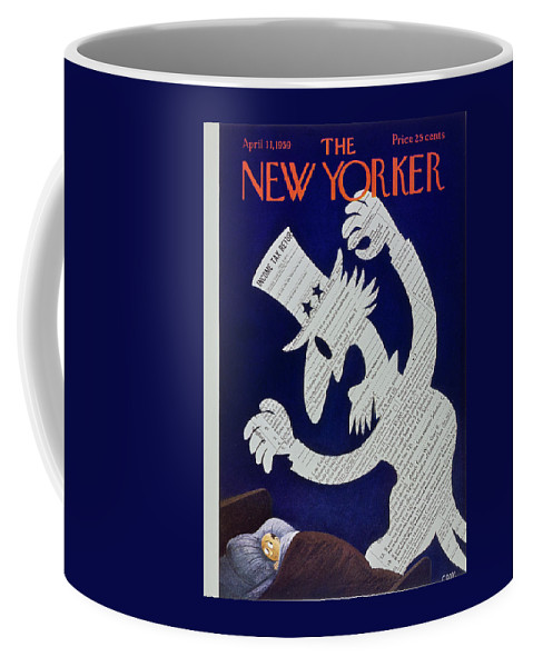 Income Taxes Coffee Mug featuring the painting New Yorker April 11 1959 by Charles Martin