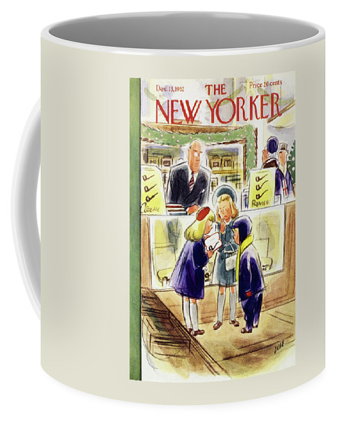 Children Coffee Mug featuring the painting New Yorker December 13 1952 by Leonard Dove
