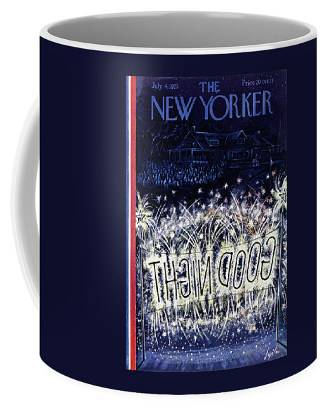 Independence Day Coffee Mug featuring the painting New Yorker July 4 1953 by Constantin Alajalov