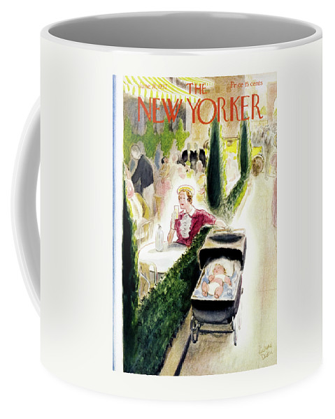 Infant Coffee Mug featuring the painting New Yorker June 26 1937 by Richard Decker