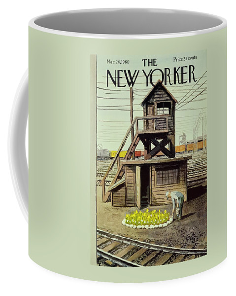 Illustration Coffee Mug featuring the painting New Yorker March 26 1960 by Arthur Getz