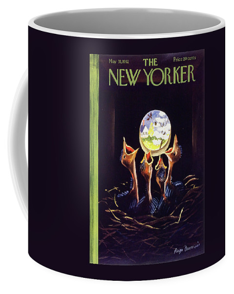 Baby Coffee Mug featuring the painting New Yorker May 31 1952 by Roger Duvoisin