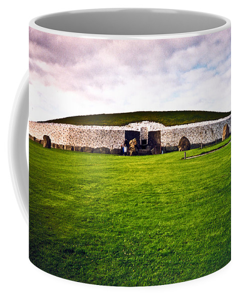 Newgrange Coffee Mug featuring the photograph Newgrange Morning by Douglas Barnett